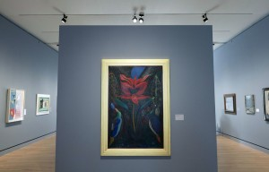 "Joseph Stella's ""Red Flower"", circa 1929, in gallery five."