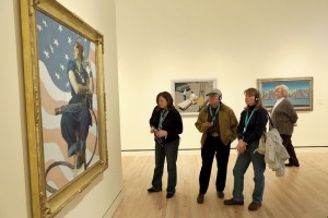 """A visitor favorite: Artist Norman Rockwell's painting """"Rosie the Riveter"""", circa 1943."""