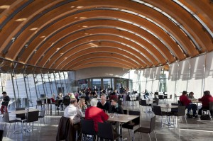 Visitors can eat lunch in one of the buildings at the Museum.