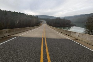 Highway 263 leading into Prim, AR where the town's Post Office is set to close this year.