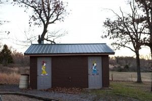 The restrooms in the Witts Springs, AR town park are designated men and women.