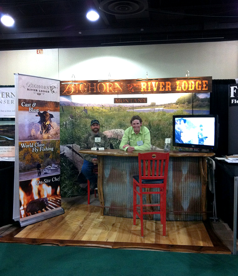 """Wood Trade Show Booth : Filming the """"cast and blast story for big horn river"""